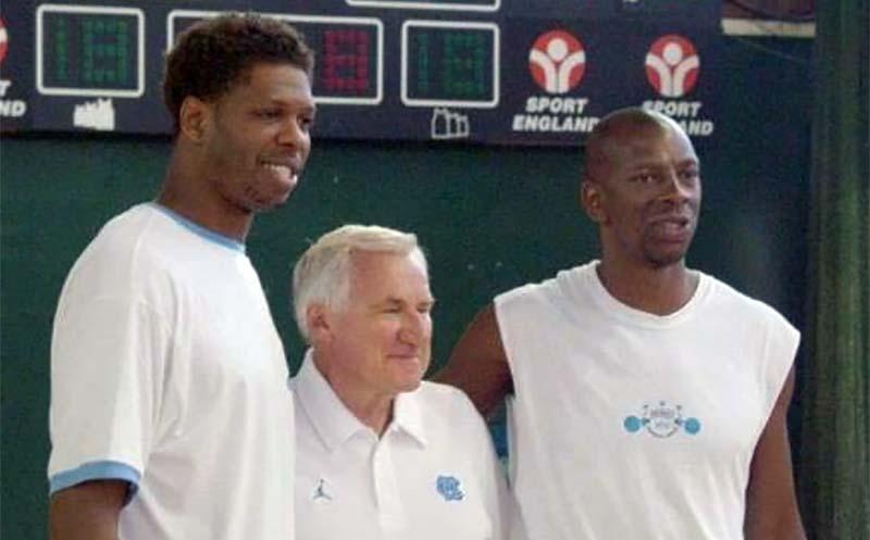 Coach JR Reid Coach Dean Edwards Smith Coach Steve Bucknall UNC