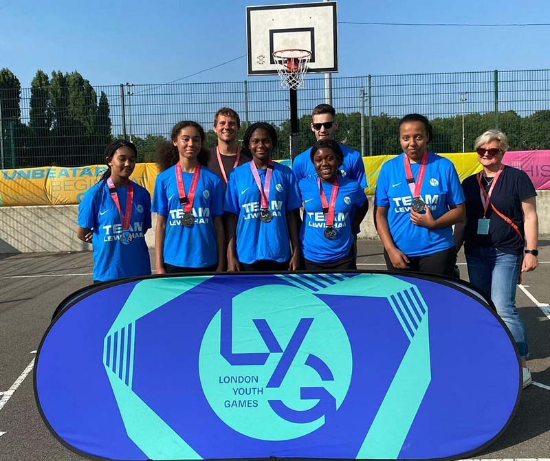 London Youth Games 3 on 3 Lewisham Girls Silver Winners