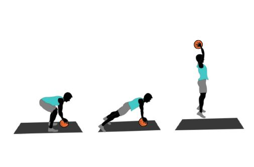 basketball burpees