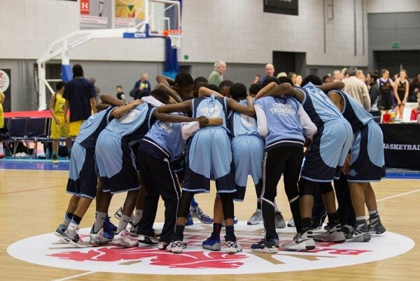 london thunder team talk basketball england