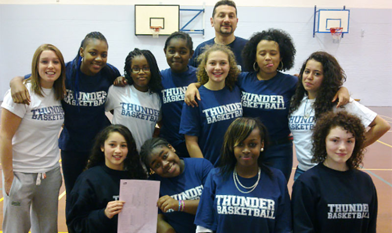 london thunder womens basketball